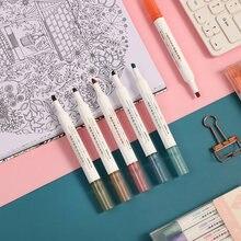 6 шт/компл Милая маркерная ручка morandi высокого качества креативная