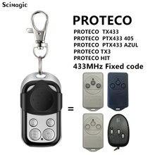 PROTECO-mando a distancia para puerta de garaje, transmisor de código fijo, 405 MHz, TX433/PTX433 433/PTX433 AZUL/TX3/HIT