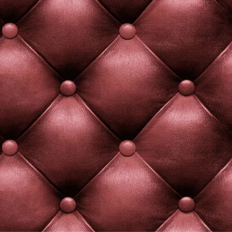 Simple European Style 3D Faux Leather Pattern Faux Soft Bag Wallpaper Hotel Bedroom Bedside Living Room Wall Wallpaper