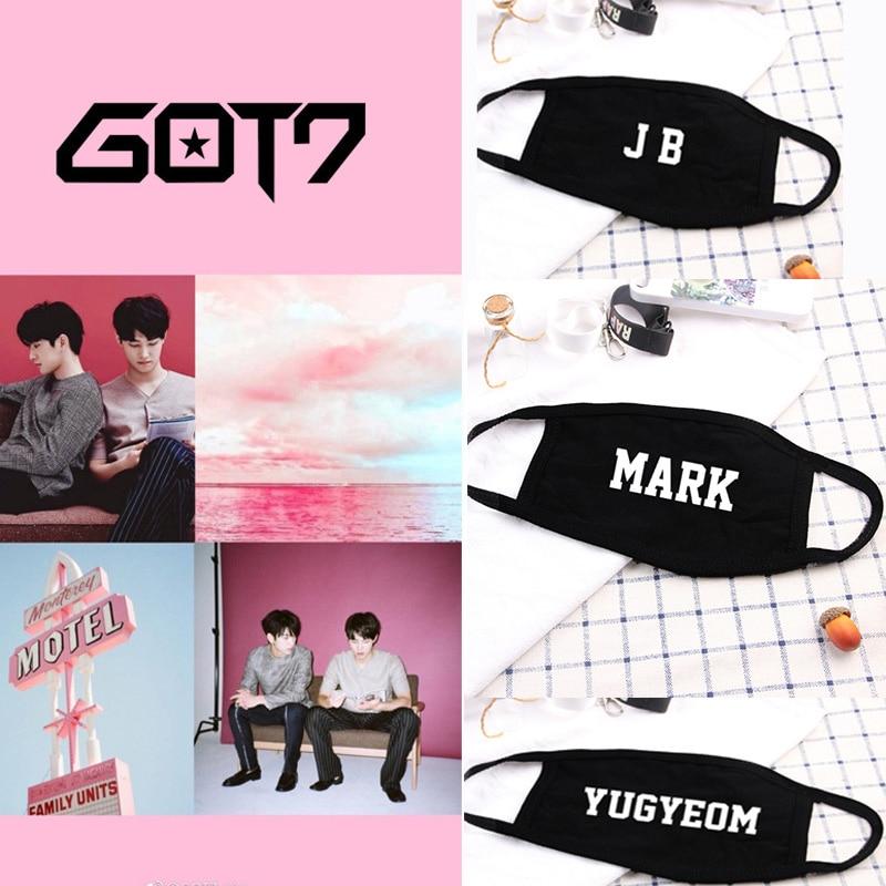 Got7 New Album Spinning Top Lullayb Dustproof Cotton Face Mask Bambam JINYOUNG MARK JACKSON YUGYEOM Unisex Mask LJJ681