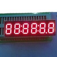 2 uds. De pantalla LED con temporizador, pantalla Digital de reloj de 6 dígitos, pantalla LED de 7 segmentos con cátodo rojo, temporizador de 0,36 pulgadas, números, pantalla de señales LED
