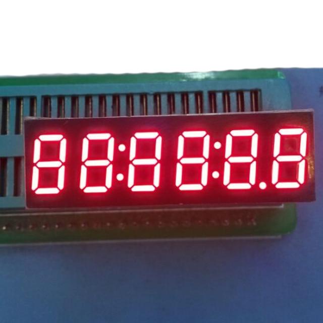 2pcs LED Timer Display 6 Digits Digital Clock Display RED Cathode 7 Segment LED Display 0.36inch Timer Numbers LED Signs Display