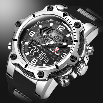 Digital Men Military Watch 50m Waterproof Wristwatch LED Quartz Clock Sport Watch Male Big Watch Men S Shock relogios masculino ohsen men shock resistant sports watch quartz hour digital watch military 30m waterproof silicone strap led dual time wristwatch