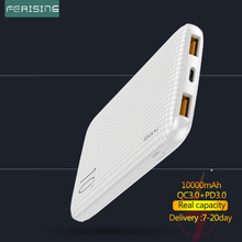 Power-Bank External-Battery Xiaomi Quick-Charger Type-C 10000mah Portable Fast USB Android