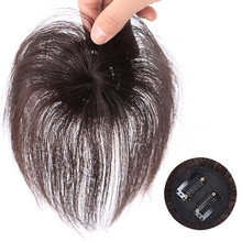New Hot Clip-On Hair Topper Straight Extension Cover White Sparse Hair Hairpiece SMR88(China)