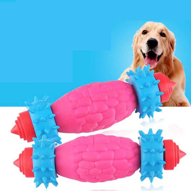 Perro juguetes para mascotas Molar limpiador cepillado palo trainging perro juguetes para perros juguete de cepillo de dientes de perro cachorro cuidado Dental para mascotas perro cachorros