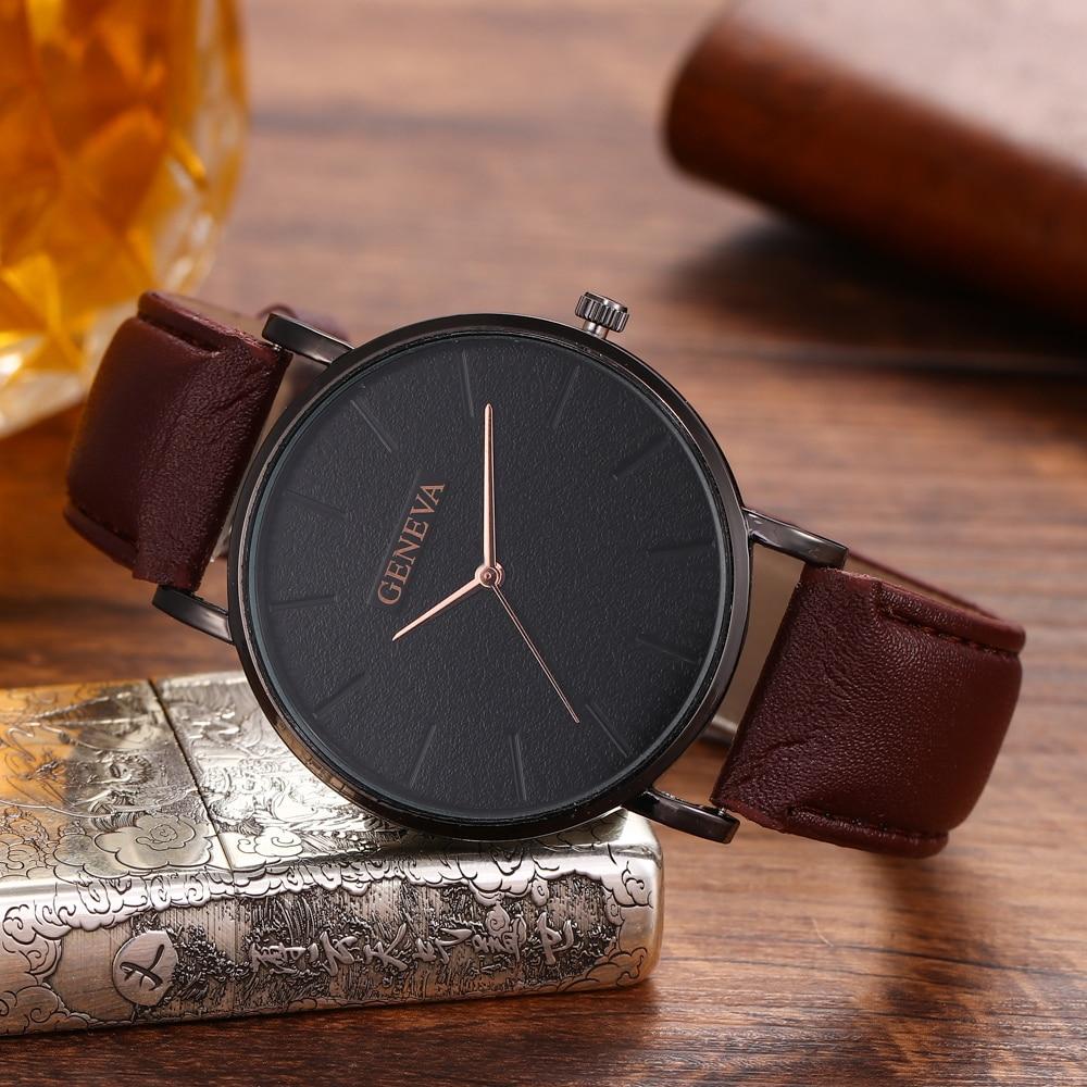 Hc720766337cd4c4d836cd4f8c97313ees Arrival Men's Watches Fashion Decorative Chronograph Clock Men Watch Sport Leather Band Wristwatch Relogio Masculino Reloj