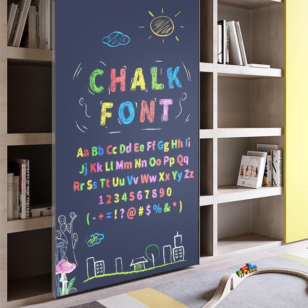 Magnetic Blackboard Wall Sticker Home Decorative Kids Drawing Chalkboard Wallpaper For Office School Notice Board With Chalk Pen