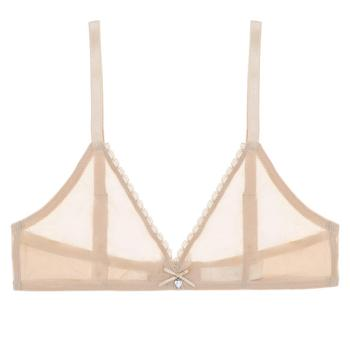 Varsbaby sexy high-waist panties transparent underwear unlined breathable yarn see-through bra set 5