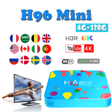 H96 MINI H6 tv box brasil Android9.0 boxing USB3.0 HDMI 2.0 H.265 6K@30fps smart 4GB 128GB support Youtube