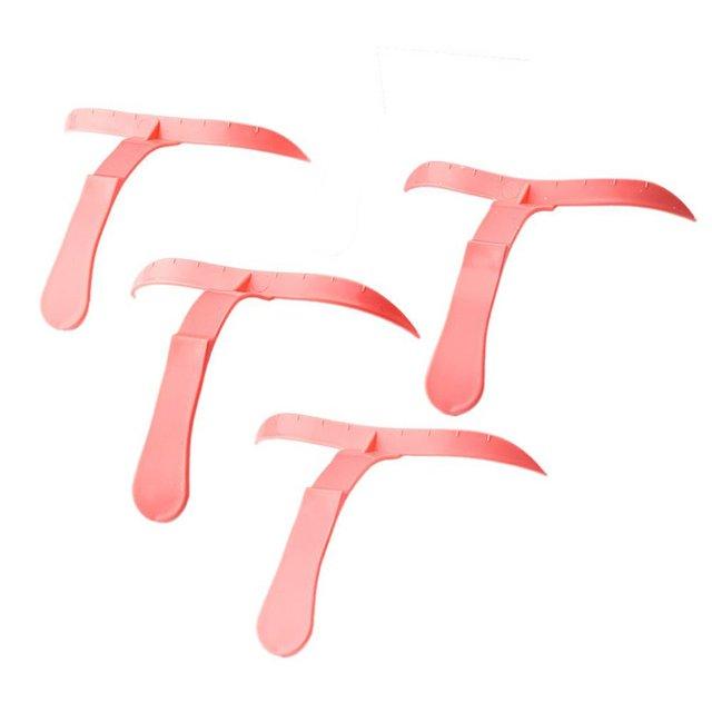 T-shape Eyebrows Shaping Thrush Card DIY Hollow Threading Artifact Thrush Aid Card Easy Makeup Eyebrow Template Stencils 2