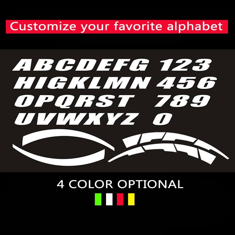 2.8cm wysokość koła naklejki Tuning samochodu uniwersalny 3D permanentny gumowy napis naklejki Auto etykiety listów spersonalizowana stylizacja