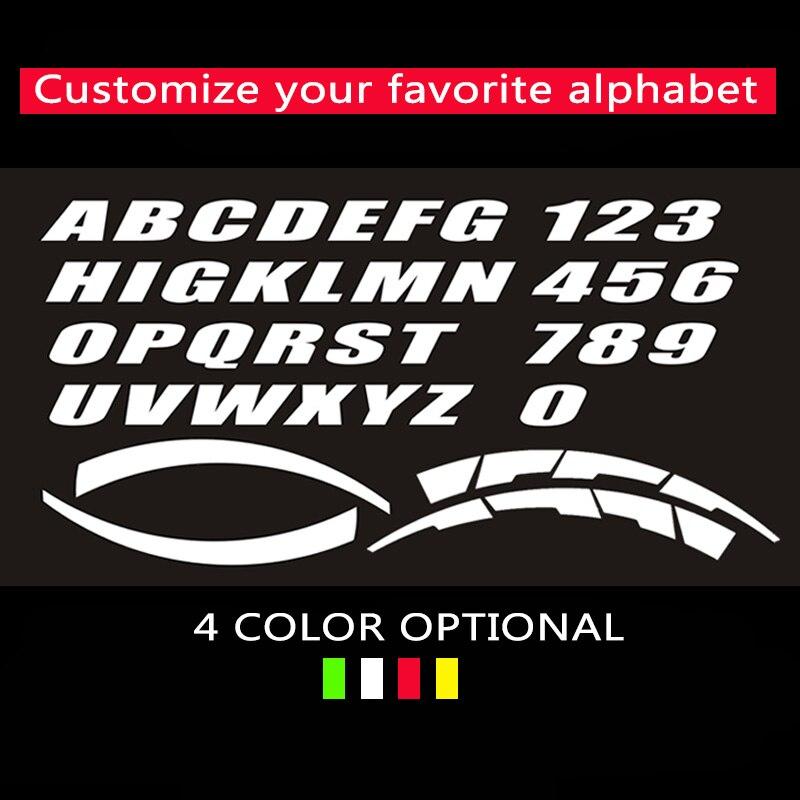 4 Sets Etiqueta engomada del neum/ático Logotipo 3D Etiqueta engomada de goma del neum/ático de la motocicleta del coche 1.1in Letras de bricolaje Etiqueta de rueda de estilo de coche personalizada