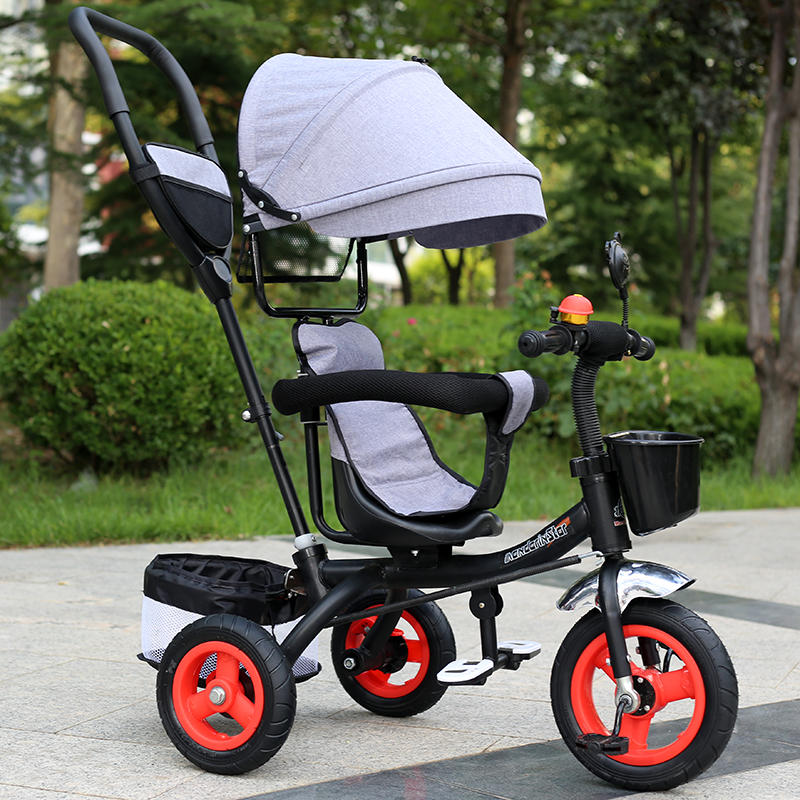 Childrens tricycle men and women baby bicycle 1-3-6 years old child toy large trolley