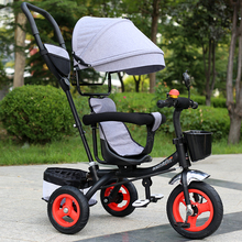 Children's tricycle men and women baby bicycle 1-3-6 years old child toy bicycle baby large trolley все цены