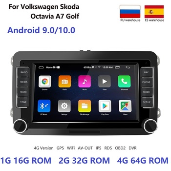 Android 10 2 Din Car Radio Multimedia Player Auto NO DVD GPS Mirrorlink For Volkswagen/VW/Skoda/Seat/Passat B7/POLO/GOLF 5 6 image