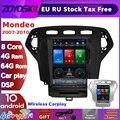 ОС Android 10 дюймов вертикальный экран Тесла стиль Автомобильный gps мультимедийное радио Bluetooth навигации плеер для Ford Mondeo 2007-2010
