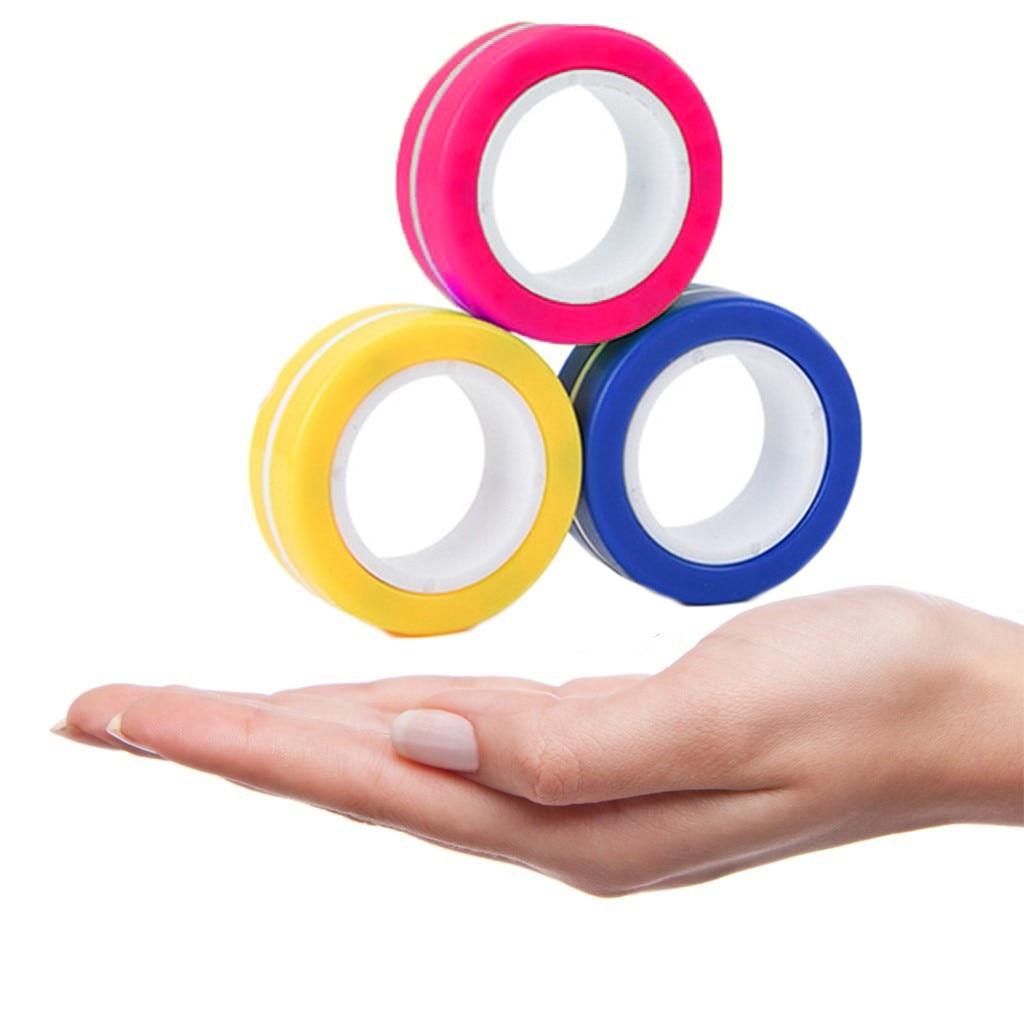 Toy Ring Bracelet Fidget-Toys Stress Magnetic Unzip Zabawki img5