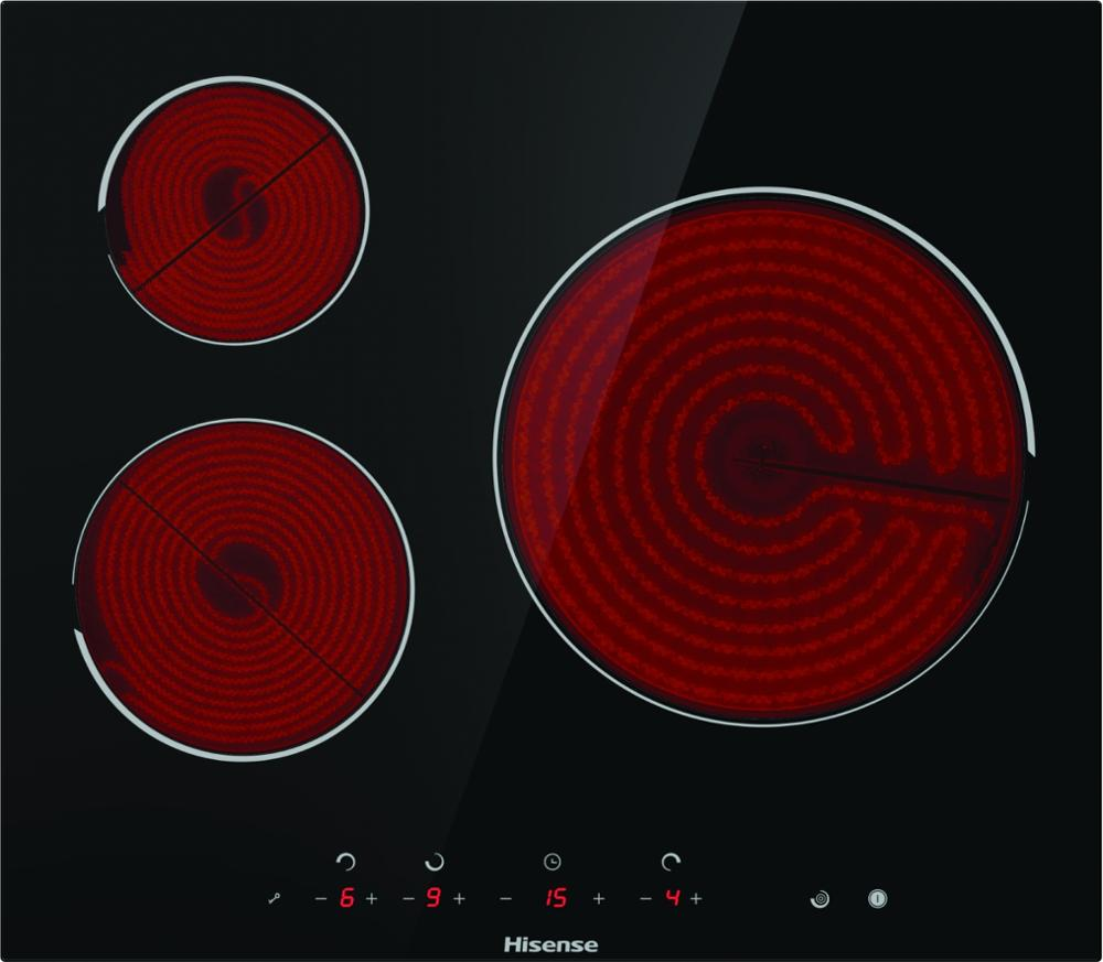 Hisense E6322C plaque de cuisson vitrocéramique, panneau vitrocéramique, 3 brûleurs, 5700 W, 59 × 6 × 52 cm - 4