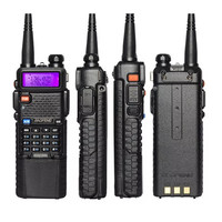 band vhf uhf שדרג 8W Baofeng UV-5R VHF Talkie Walkie / UHF Handy Dual Band CB שני הדרך רדיו משדר 3800mah Li-thium סוללה (2)