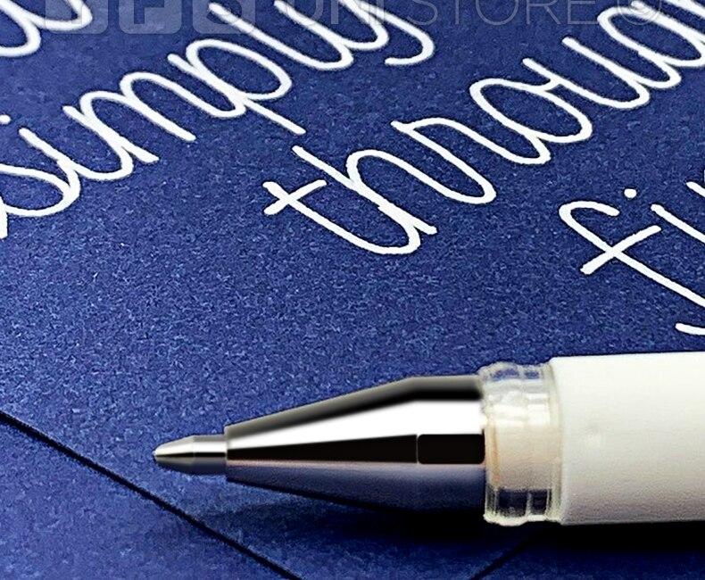 UNI-ball Signo Board UM 153 Signo Broad Point Gel Pen Gel Pen1.0 Mm White Color Value Pack Of 3/6/9/12