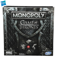 Hasbro Monopoly Game of Thrones Collector's Edition Board Game Play For Adult Family Monopoly Learning Education Gaming Toy