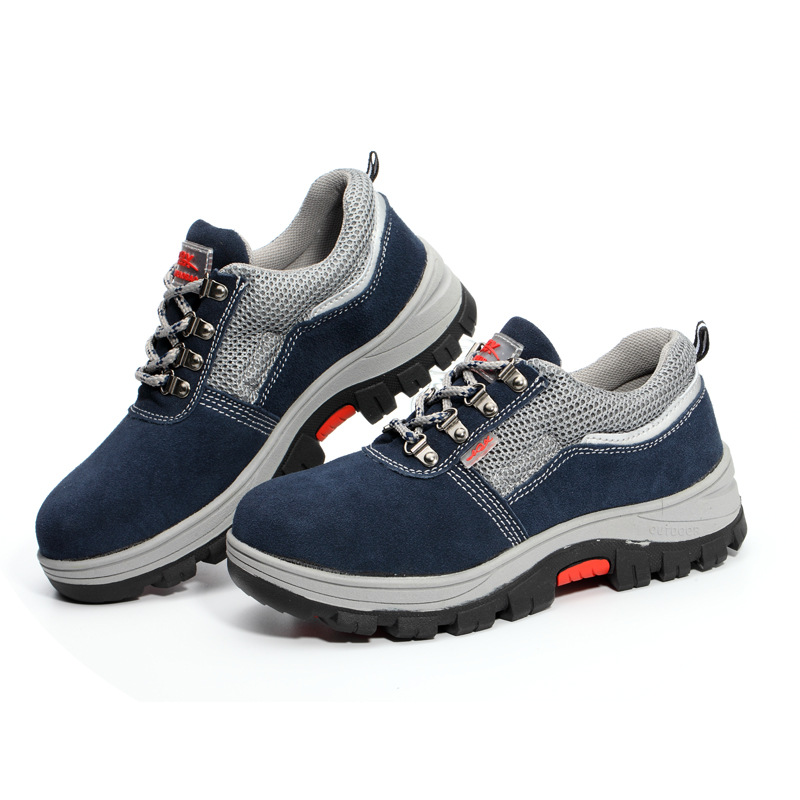Safety Shoes Men's Smashing Anti-slip Puncture-Resistant Steel Plate Protection Safety Shoes Plus Velvet Safety Shoes