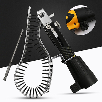 цена на Automatic Chain Nail Gun Adapter Screw Gun for Electric Drill Woodworking Tool Cordless Power Drill Attachment