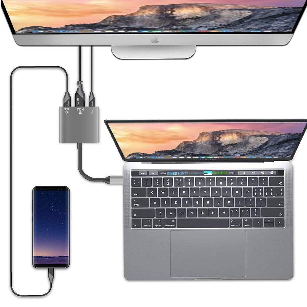 USB-C multiport usb adaptador de dados sincronização