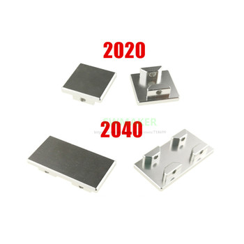 1pcs BLV Ender-3 CR-10 Prusa MK3 3D printer parts All metal 2020/2040 V-slot extrusion end cap with screw hole stronger image
