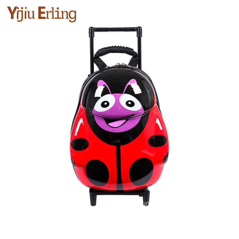 NEW Cartoon Kids ABS Spinner Rolling Luggage Trolley Case Children Bags Suitcase Carry Ons Boy Girl Bag of Wheels Backpack
