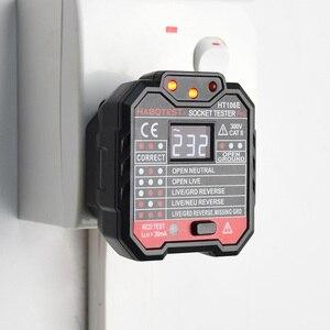 Image 2 - Habotest HT106 Socket Tester Pro Voltage Test Socket Detector UK EU Plug Ground Zero Line Plug Polarity Phase Check