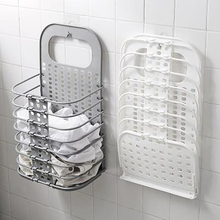 PP Foldable Hamper White Gray Wall-Mounted Fast Installation Simple Style With Handle Easy To Move