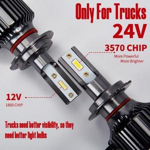 2 шт. 24 В Светодиодная лампа для грузовиков H4 H7 H1 H3 6000K 12000LM ближний свет дальнего света супер яркий светодиодный светильник на голову светиль...