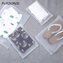 PURDORED 1 Pc Transparent Cosmetic Bag Pvc Clear Travel Makeup Case Women Zipper Make Up Bath Organizer Storage Kosmetyczka
