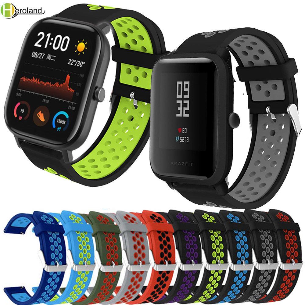 Ремешок силиконовый для xiaomi Huami Amazfit BIP youth / BIP lite/GTS, сменный спортивный браслет для наручных часов, 20 мм 22 мм