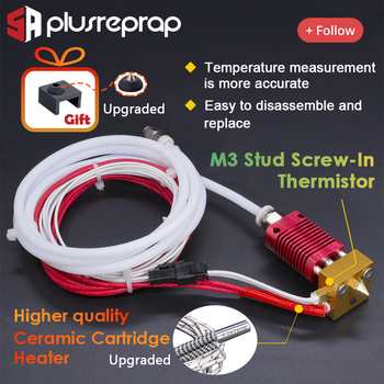 CR10 1.75mm J-head Hotend kit Aluminum Heat Block with Heater Thermistor Ender-3/CR-10/CR-10S With MK8 Nozzle 3D Printer Parts mellow all metal nf crazy hotend v6 copper nozzle for ender 3 cr10 prusa i3 mk3s alfawise titan bmg extruder 3d printer parts