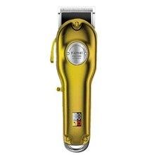 110-240 в полностью металлический перезаряжаемый триммер для волос, профессиональная машинка для стрижки волос для парикмахерских мужчин, электрическая бритва для бороды, машинка для стрижки волос