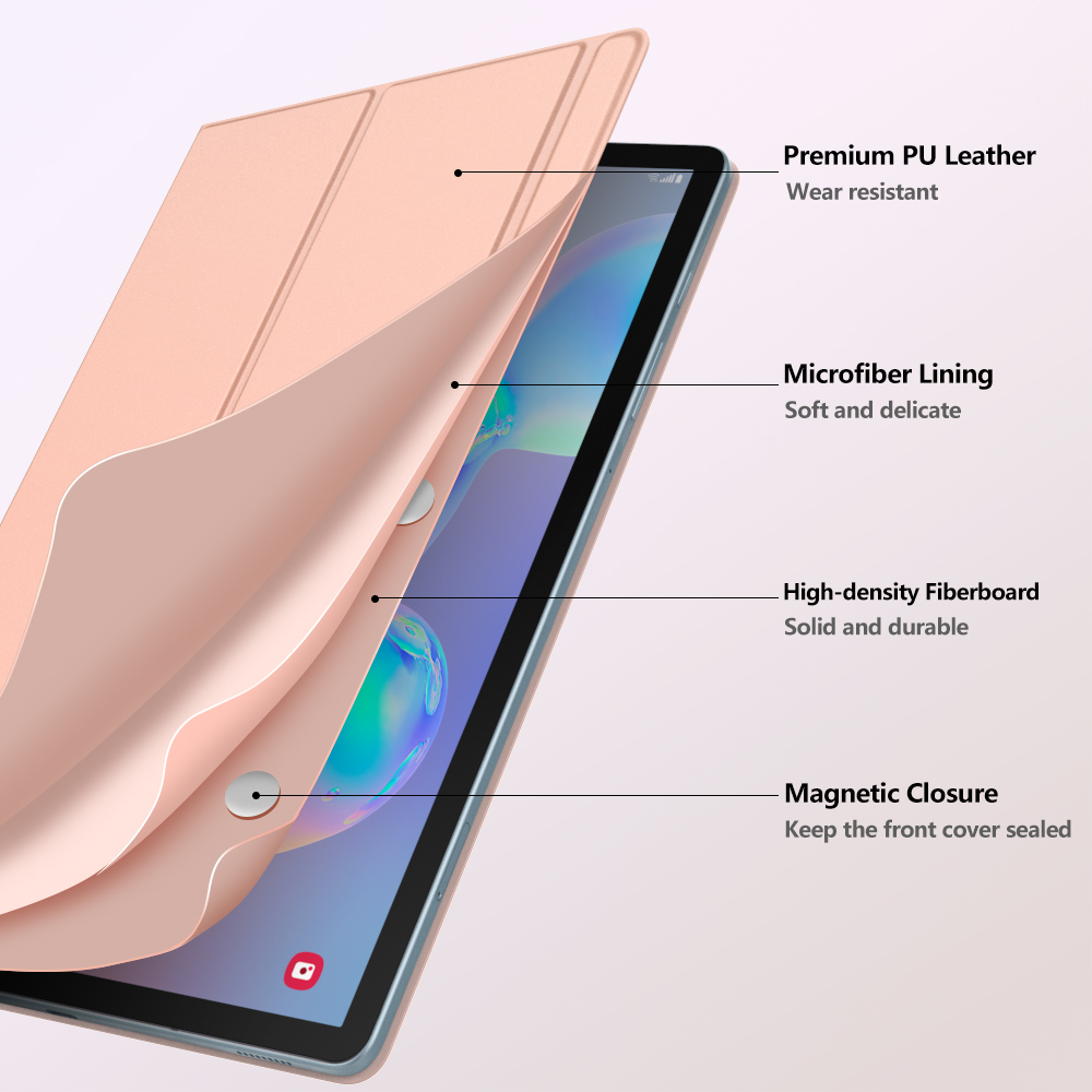 Smart Folio Case For Samsung Galaxy Tab S6 10.5 2019,Slim Lightweight Smart Shell Stand Cover,Strong Magnetic Adsorption For Tab (14)
