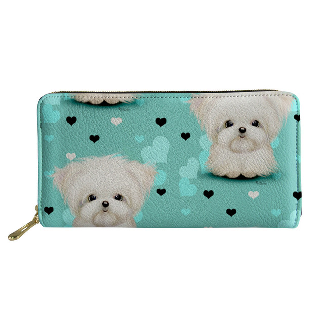 Womens PU Leather Ladies Multi-functional Cartoon Long Wallet With Zipper