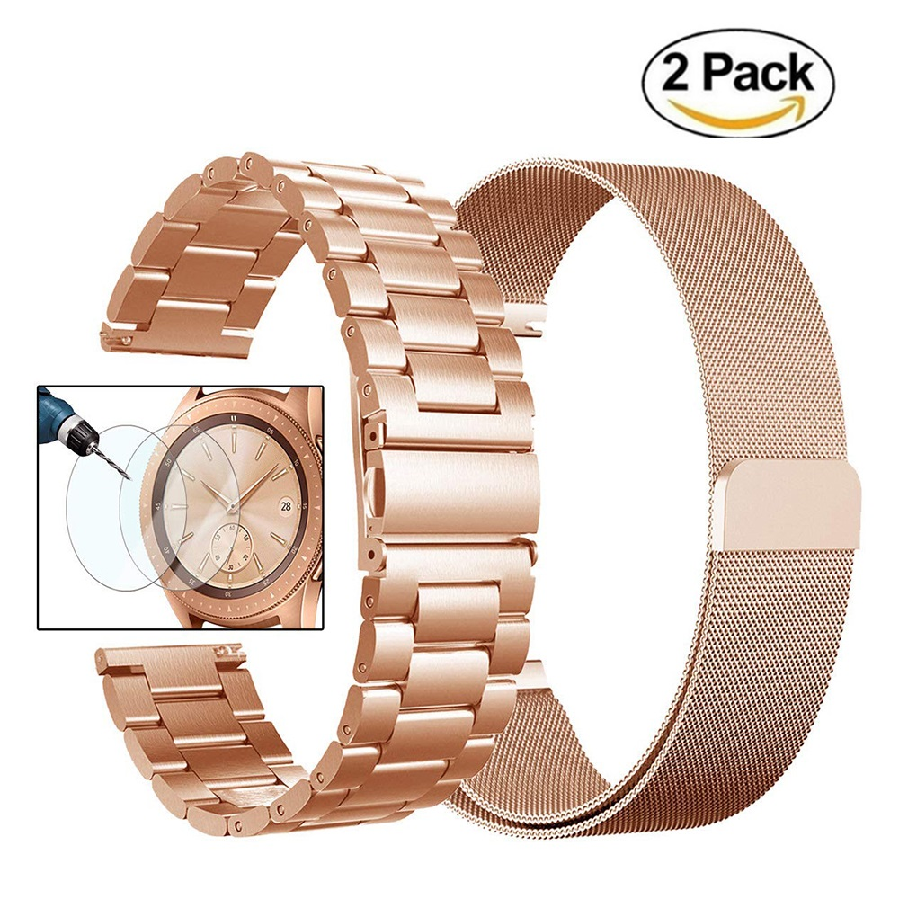 20mm Milanese Stainless Steel Watchband Bracele For Samsung Galaxy Watch Active 42mm Gear S2 Classic Gear Sport Band Wrist Strap