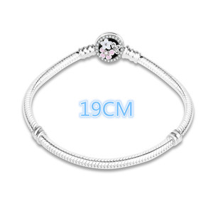 Image 4 - 100% 925 Sterling Silver Enamel Flower Charm Chain Fit Original Bracelet Bangle for Women Authentic DIY Jewelry berloque Gift