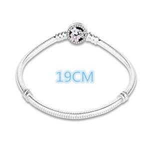 Image 4 - 100% 925 prata esterlina esmalte flor charme corrente caber pulseira pulseira original para as mulheres autêntico diy jóias berloque presente
