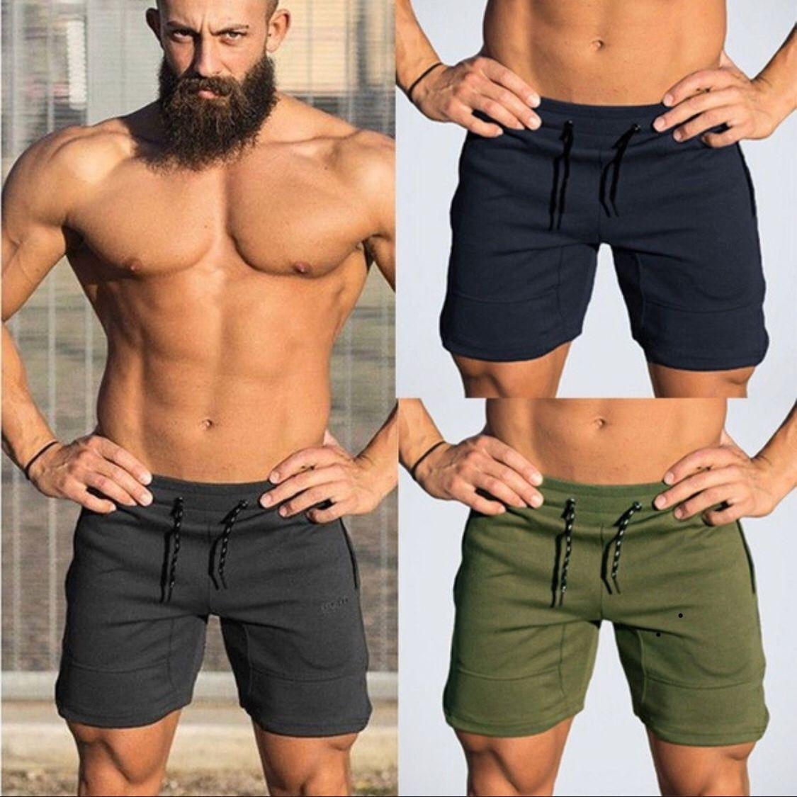 Curto dos Homens Zogaa Homens Verão Casual Shorts Men Marca Novidades Board 2020 Hot Sólidos Respirável Cintura Elástica Moda