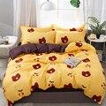 Thumbeding Комплект постельного белья с коричневым медведем  милый модный пододеяльник с мультяшным рисунком  двуспальный полноразмерный однос...