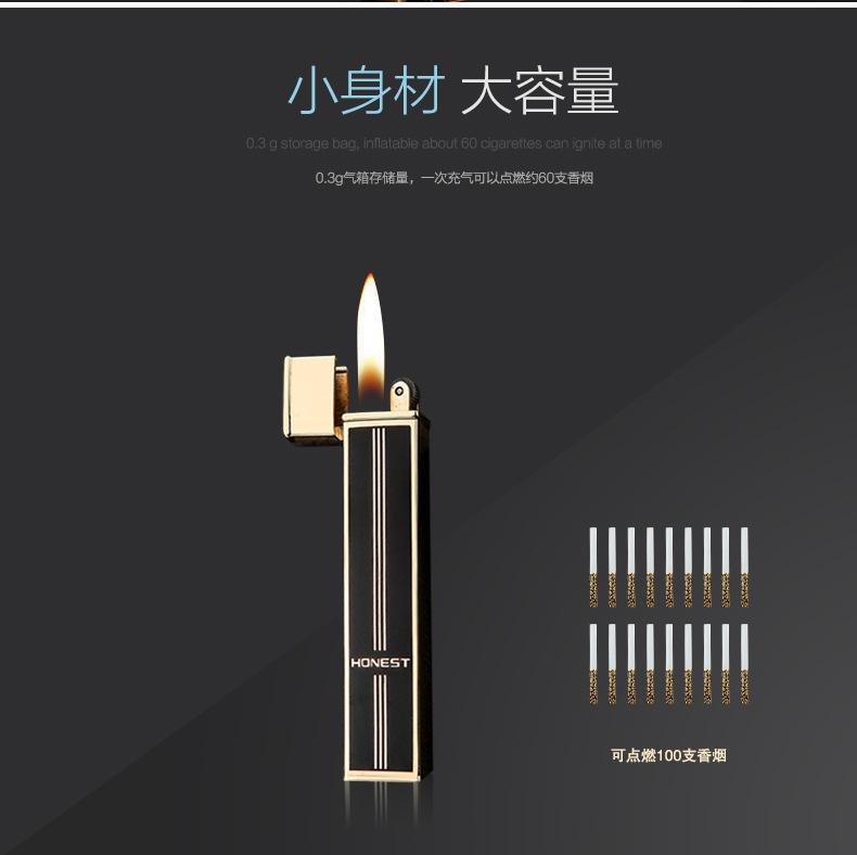 Ультратонкая модная мини тонкая надувная зажигалка шлифовальный
