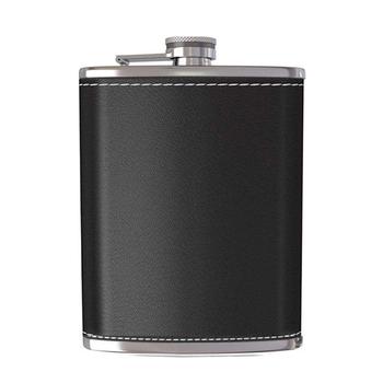 5 6 7 oz Mini Hip Flask whisky Flask wysokiej jakości przenośna metalowa piersiówka męska kieszeń zewnętrzna butelka wina mała Mini kolba tanie i dobre opinie CN (pochodzenie) NB-8569 Stainless steel PU leather 5 6 7oz Black Brown Brand new High quality