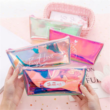 US $0.96 41% OFF Transparent Cosmetic Bag Fashion Travel Makeup Bag Zipper Make Up Organizer Pouch Toiletry Student Pencil Pouch-in Cosmetic Bags & Cases from Luggage & Bags on AliExpress - 11.11_Double 11_Singles' Day