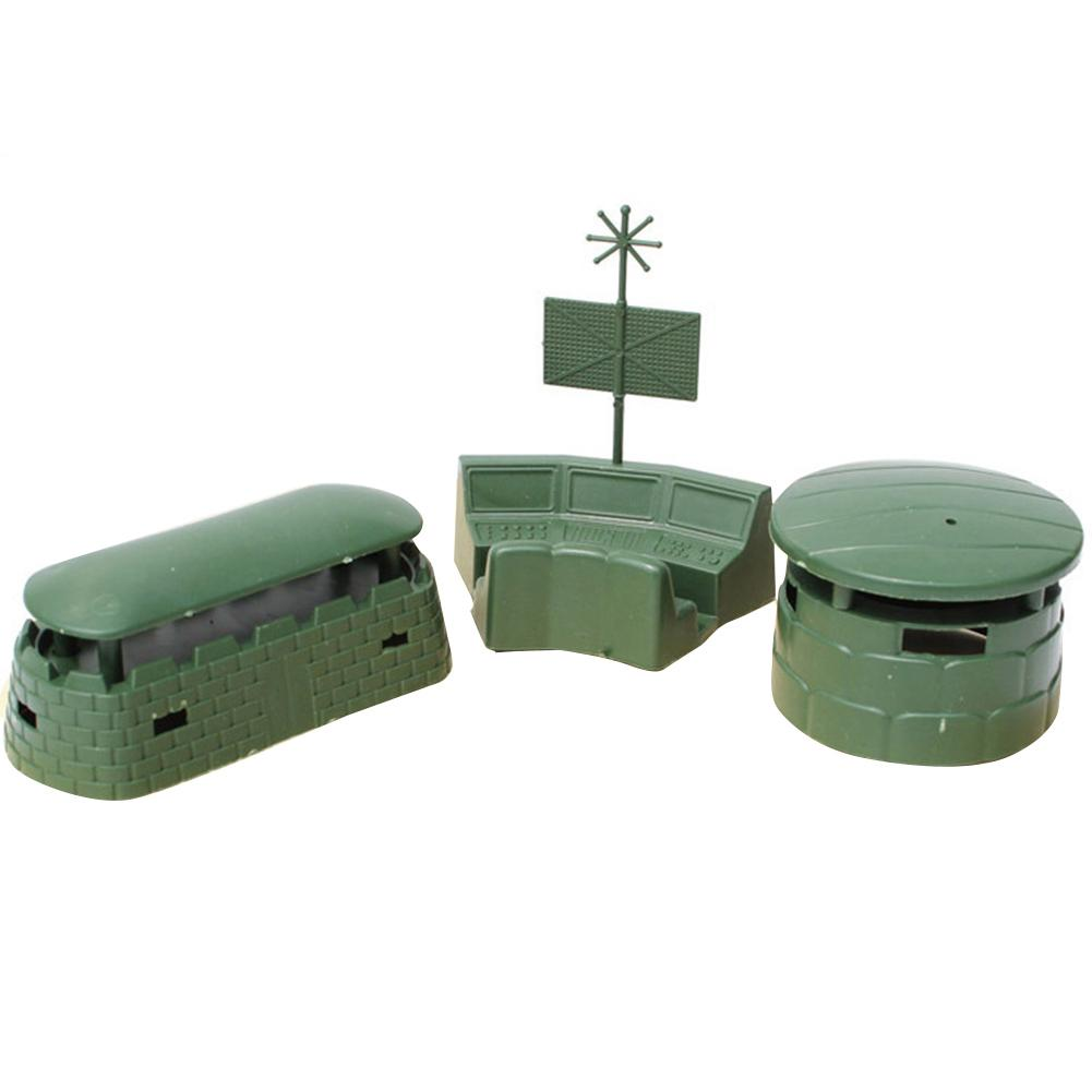 3Pcs/Set Military Base War Scene Assembly Blockhouse Bunker Children Kids Toy Funny Educational Toys For Baby Birthday Gifts