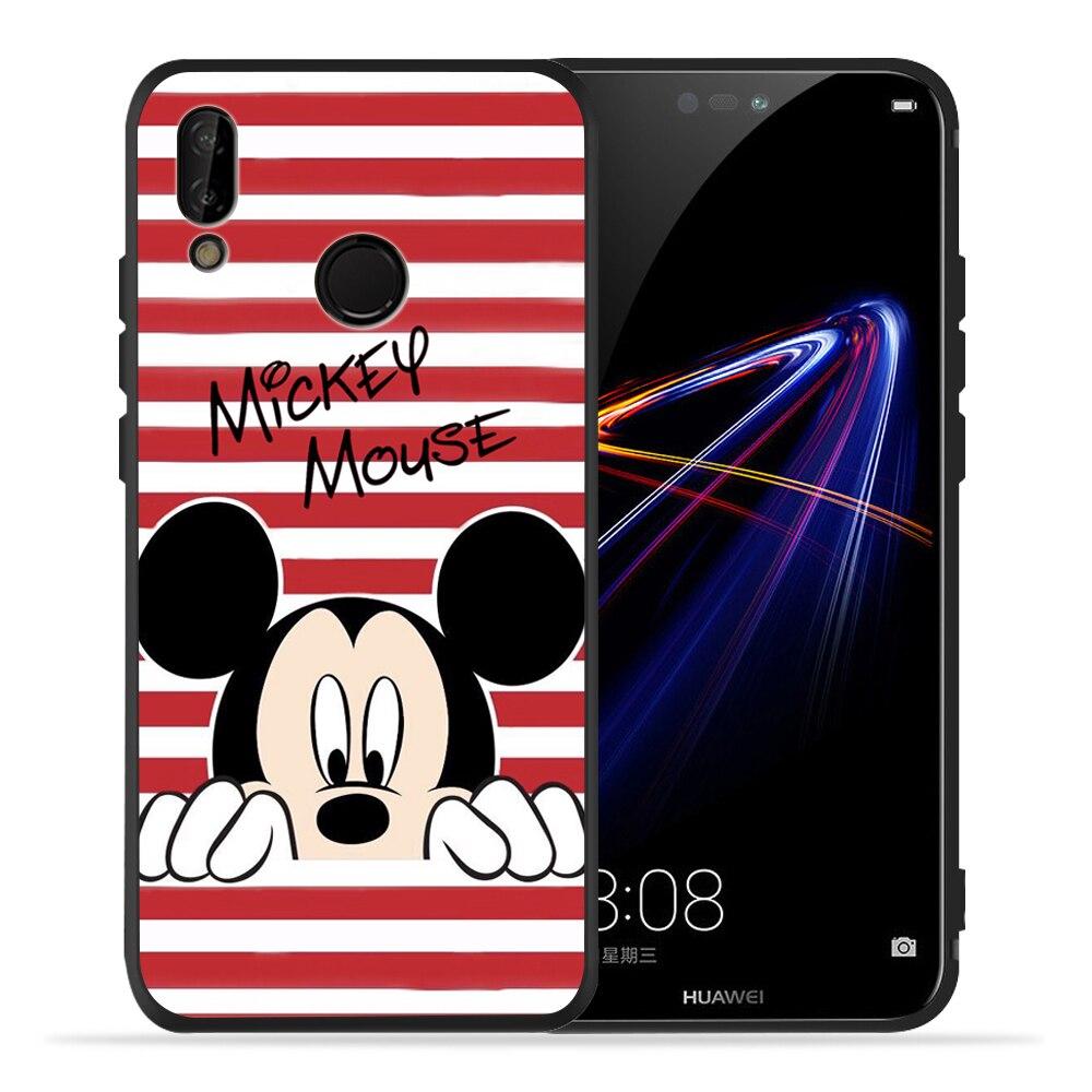 Cute Cartoon Minnie Mouse Soft Silicone Case For Huawei P30 Lite For Cover Huawei P20 Lite P10 P40 Lite P20 Pro P40 P30 Pro Etui